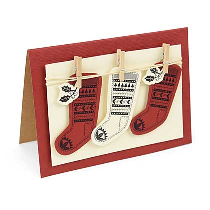 Sizzix Framelits with Stamps - Fairsle Stocking