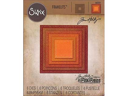 Sizzix Thinlits - Stitched Squares (6pk)