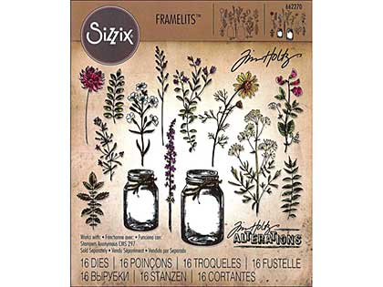 Sizzix Thinlits - Flower Jar by Tim Holtz (16pk)