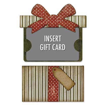 Sizzix Thinlits - Gift Card Package