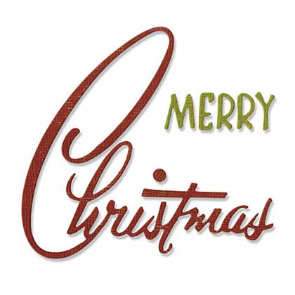 Sizzix Thinlits - Retro Merry Christmas