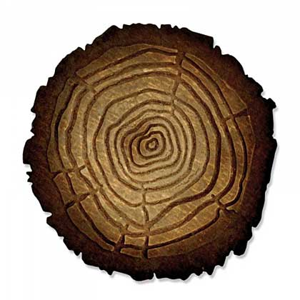 Sizzix Bigz with Texture Fades - Tree Rings