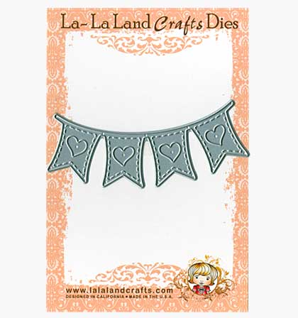 SO: La-La Land Craft Cutting Die - Heart Banner