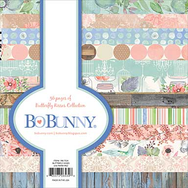 BoBunny Butterfly Kisses - Paper Pad 6x6 36pk (12 Designs 3 Each, Single-Sided)