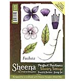SO: Sheena Douglass Perfect Partners Country Cottage A6 Unmounted Rubber Stamp - Fanciful Fuschia