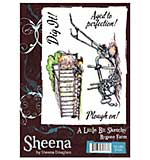 Sheena Douglass A Little Bit Sketchy A6 Unmounted Rubber Stamp - bYGONE fARM