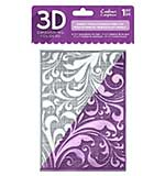 Crafters Companion Regency Swirls 5x7 3D Embossing Folder