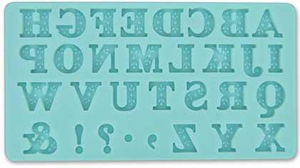 SO: Martha Stewart Crafters Clay Silicone Mold 1pk - Alphabet