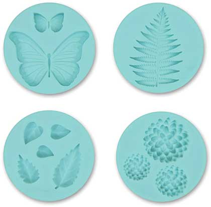 SO: Martha Stewart Crafters Clay Silicone Molds 4pk - Garden