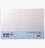 Craft UK - Pearlescent White C6 Cards and Envelopes 20pk