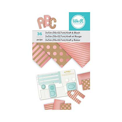 We R Memory Keepers Paper Pad - Kraft with Blush Foil (3x5, 36pk)
