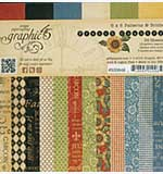Graphic 45 - 6x6 Paper Pad - French Country Patterns and Solids