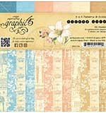 SO: Graphic 45 Double-Sided Paper Pad 6x6 36pk - Gilded Lily, 3ea Of 12 Prints and Solids