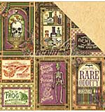 PRE: Rare Oddities Double-Sided Cardstock 12x12 - Cabinet Of Curiosities (10 sheets)