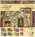 Graphic 45 Double-Sided Paper Pad 8x8 24pk - Rare Oddities, 3 Each Of 8 Designs