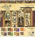 Graphic 45 Double-Sided Paper Pad 12x12 24pk - Rare Oddities, 3 Each Of 8 Designs