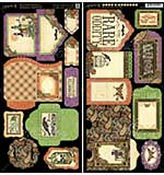 Rare Oddities Cardstock Die-Cuts 6x12 Sheets 2pk - Tags and Pockets