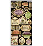 SO: Rare Oddities Chipboard Die-Cuts 6x12 Sheet - Decorative