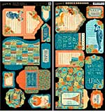 Worlds Fair Cardstock Die-Cuts 6x12 Sheets 2pk - Tags and Pockets