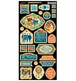 Worlds Fair Chipboard Die-Cuts 6x12 Sheet - Decorative