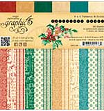 Graphic 45 Double-Sided Paper Pad 6x6 36pk - A Christmas Carol, 3 each of 12 Print-Solid