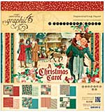 Graphic 45 Double-Sided Paper Pad 8x8 24pk - A Christmas Carol, 3 each of 8 Designs