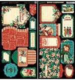 SO: A Christmas Carol Cardstock Die-Cuts 6x12 Sheets 2pk - Tags and Pockets