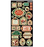 A Christmas Carol Chipboard Die-Cuts 6x12 Sheet - Decorative