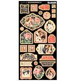 Mon Amour Chipboard Die-Cuts 6x12 Sheet - Decorative