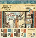 PRE: Graphic 45 Double-Sided Paper Pad 8x8 24pk - Cityscapes, 3ea Of 8 Designs