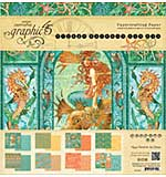 SO: Graphic 45 Double-Sided Paper Pad 12x12 24pk - Voyage Beneath The Sea, 3ea Of 8 Designs