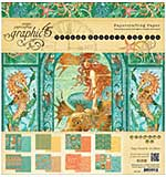 Graphic 45 Double-Sided Paper Pad 8x8 24pk - Voyage Beneath The Sea, 3ea Of 8 Designs