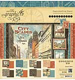 PRE: Graphic 45 Double-Sided Paper Pad 12x12 24pk - Cityscapes, 3ea Of 8 Designs
