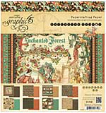 SO: Graphic 45 Double-Sided Paper Pad 8x8 24pk - Enchanted Forest, 3 Each Of 8 Designs