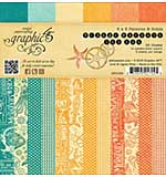 PRE: Graphic 45 Double-Sided Paper Pad 6x6 36pk - Voyage Beneath The Sea, Prints and Solids