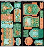 PRE: Voyage Beneath The Sea Cardstock Die-Cuts 6x12 Sheets 2-Pk - Tags and Pockets
