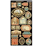 SO: Cityscape Chipboard Die-Cuts 6x12 Sheet - Decorative