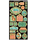 SO: Graphic 45 Voyage Beneath The Sea Chipboard Die-Cuts 6x12 Sheet - Decorative