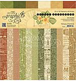Graphic 45 Double-Sided Paper Pad 12x12 24pk - Safari Adventure, Prints and Solids