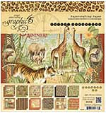 PRE: Graphic 45 Safari Adventure - 8x8 Paper Pad (Double-Sided, 24pk 2 each of 12 designs)