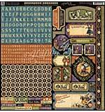 PRE: Graphic 45 Halloween In Wonderland Cardstock Stickers 12x12