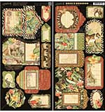 PRE: Graphic 45 Safari Adventure - Tags and Pockets 2pk (6x12 Die-Cut Cardstock Sheets)