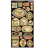 PRE: Graphic 45 Safari Adventure - Decorative Chipboard (6x12 Die-Cut Sheet)