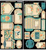 Cafe Parisian Cardstock Die-Cuts 6x12 Sheets 2pk - Tags and Pockets