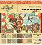 PRE: Graphic 45 Double-Sided Paper Pad 12x12 24pk - Off To The Races