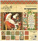 SO: Graphic 45 Double-Sided Paper Pad 8x8 24pk - St Nicholas, 12 Designs-2 Each