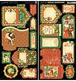 PRE: St Nicholas Cardstock Die-Cuts 6x12 Sheets 2pk - Tags and Pockets