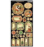 St Nicholas Chipboard Die-Cuts 6x12 Sheet - Journaling