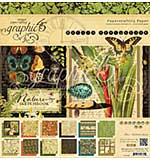 Graphic 45 Double-Sided Paper Pad 12x12 24pk - Nature Sketchbook, 12 Designs-2 Each