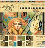 Graphic 45 Double-Sided Paper Pad 12X12 24pk - Vintage Hollywood, 8 Designs